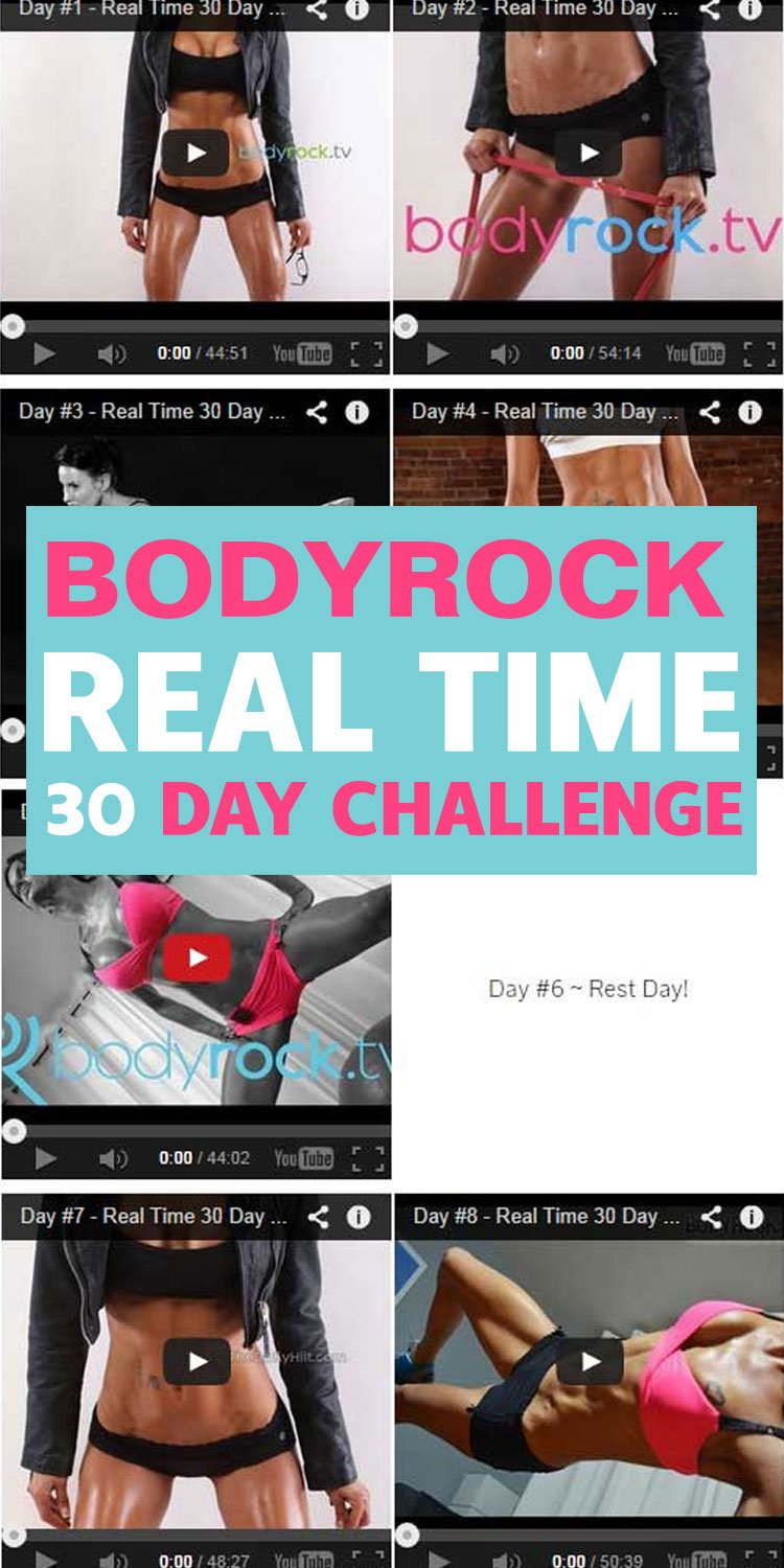 BodyRock 30 Day Challenge Day 1 to 30 [Real Time BodyRock Workouts]