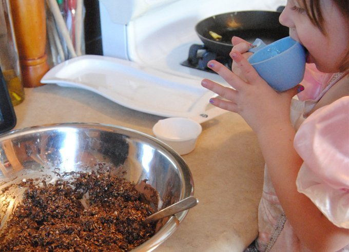 Making chocolate coconut balls