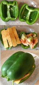 Green Pepper Sandwich