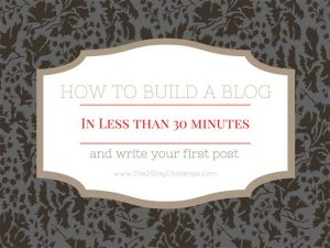 How To Build A Blog In Less Than 30 Minutes