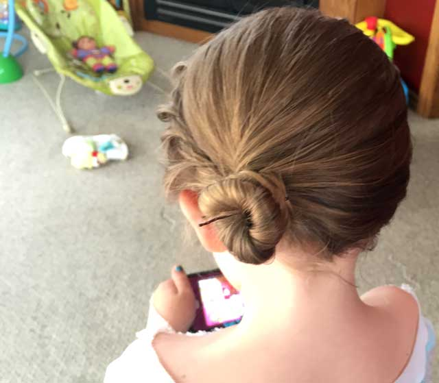 Elsa Hair Coronation Back Angle