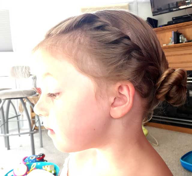 Elsa Coronation Hairstyle Side View