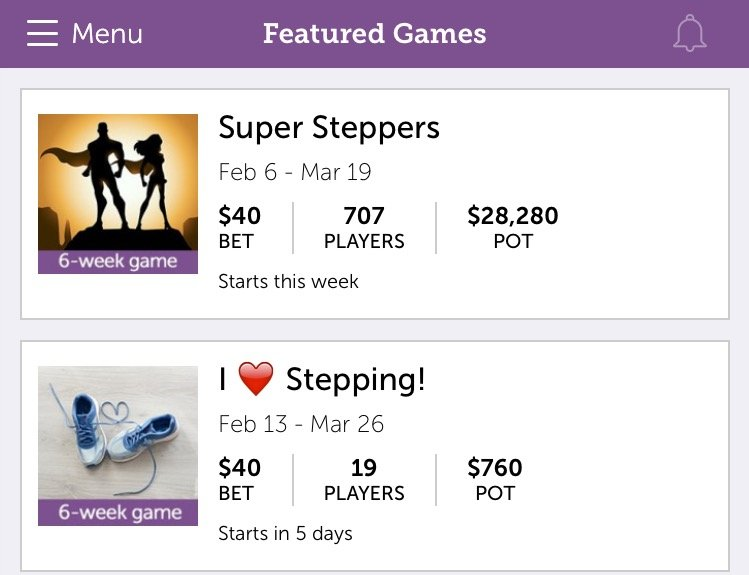 StepBet Games