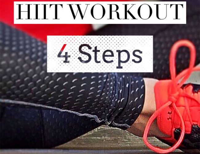 Quick + Easy HIIT Workout in 4 Steps