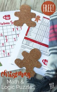 Christmas Math Puzzles for Kids 10+ {FREE!}