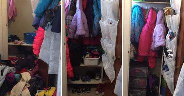 Front closet decluttering