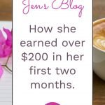 Blogging Income First Month