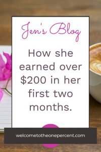 Jen's Blogging Income First Two Months