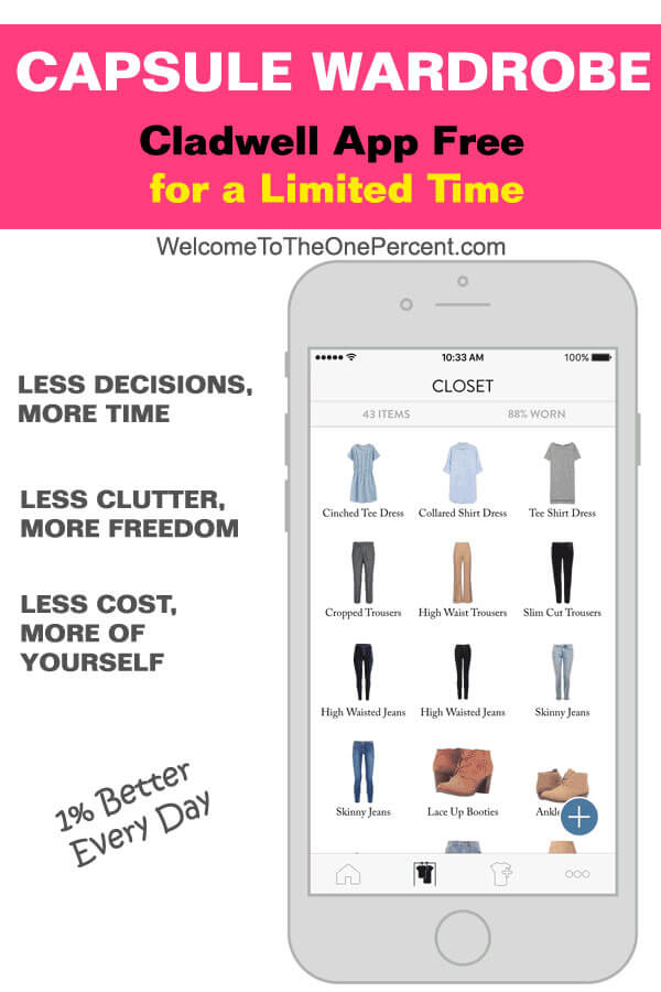 Capsule Wardrobe App Free for a Limited Time