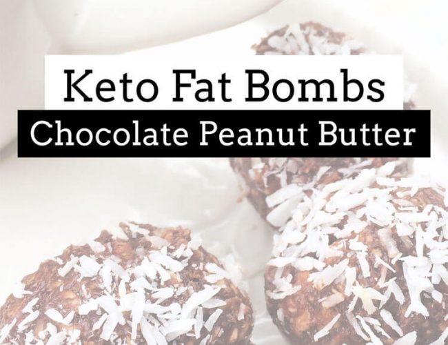 Keto Fat Bombs Chocolate Peanut Butter