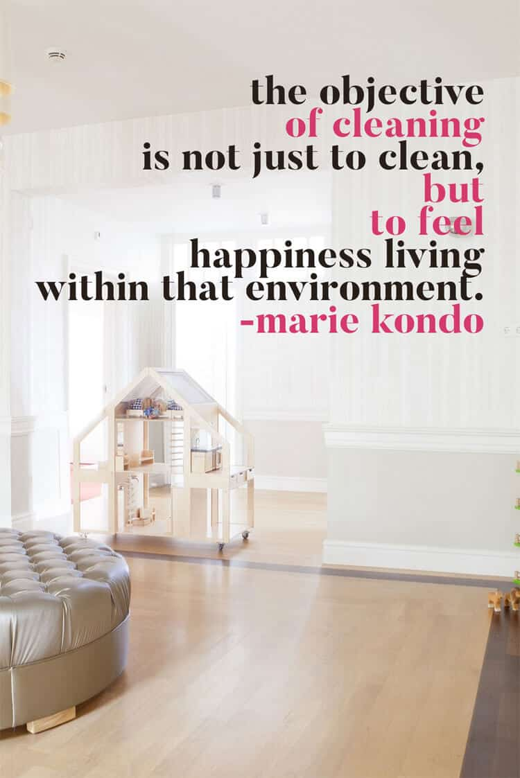Cleaning Quote Marie Kondo