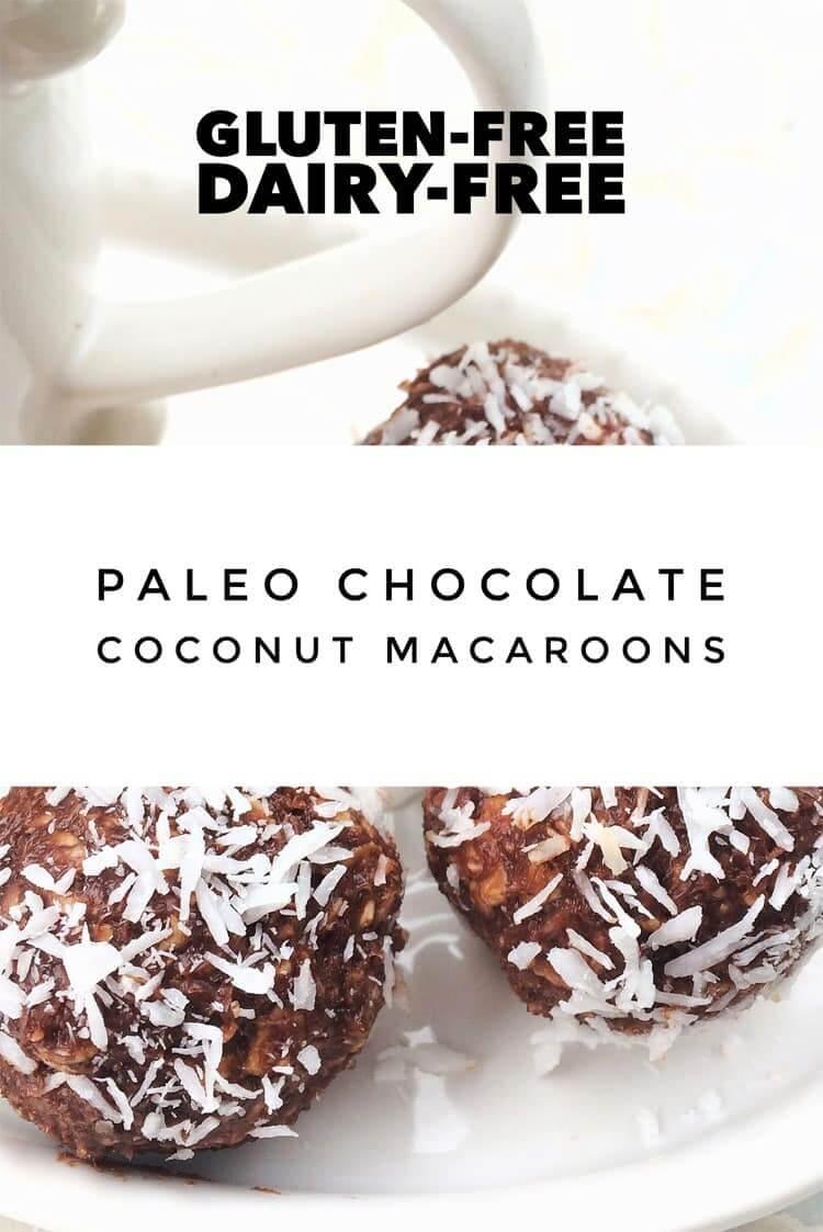 Paleo Chocolate Coconut Macaroons [Gluten-Free, Dairy-Free]