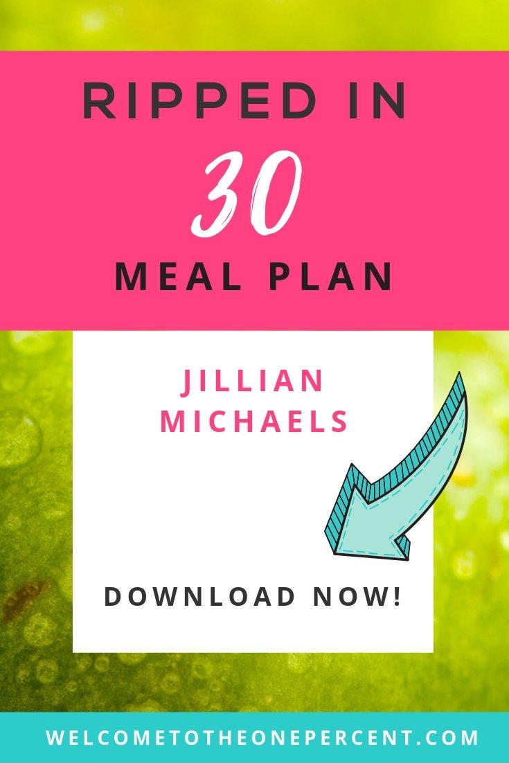 Jillian Michaels Ripped In 30 Meal Plan