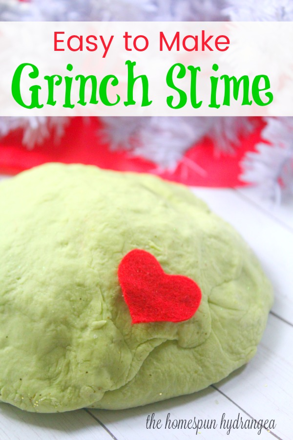 The Grinch Fluffy Slime Christmas Recipe for Kids