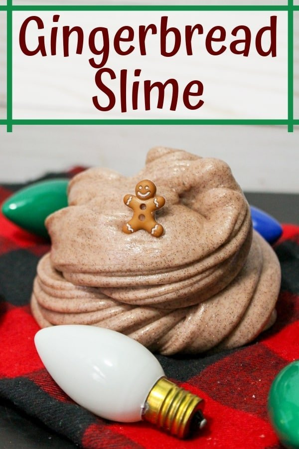 Gingerbread Slime - Easy Christmas Slime Recipe (Without Borax!)