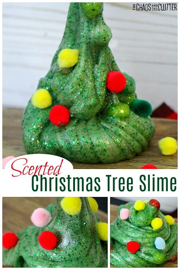 Holiday Scented Christmas Tree Slime