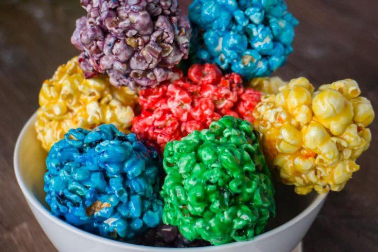 How To Make Rainbow Popcorn Balls