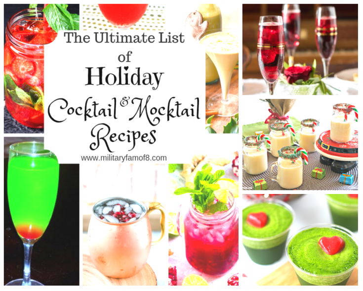 The Ultimate List of Holiday Cocktail & Mocktail Recipes