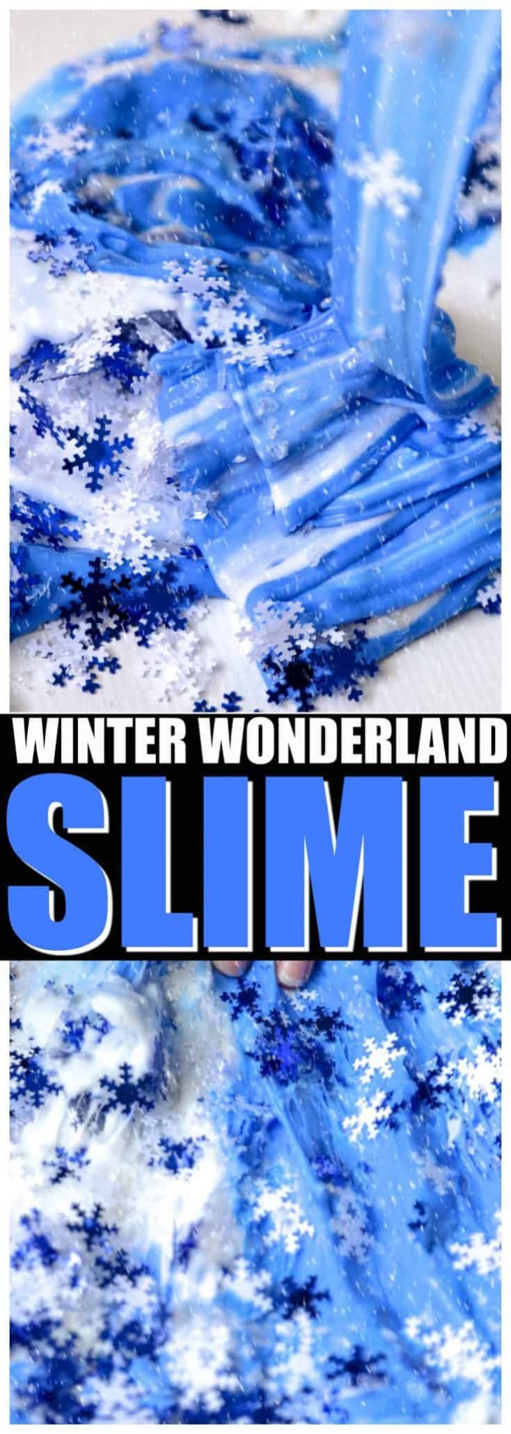 Snowflake Slime Made with Paint