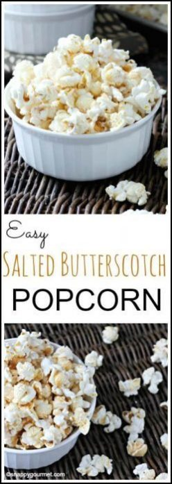 Easy Salted Butterscotch Popcorn Recipe