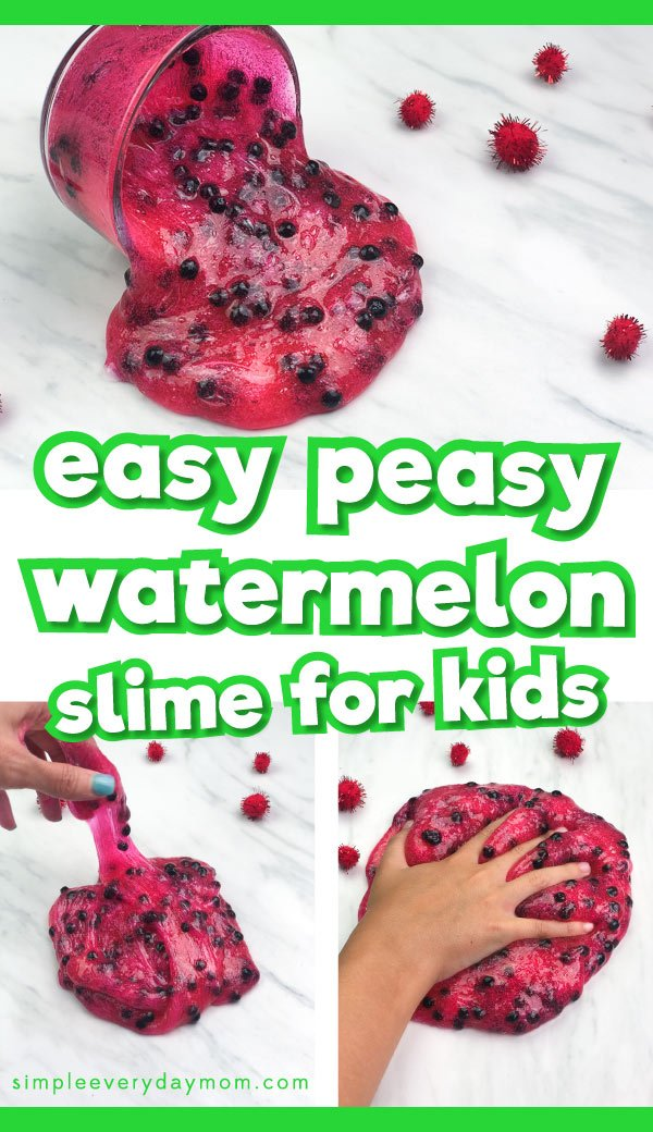 Easy Borax Free Watermelon Slime Recipe For Kids