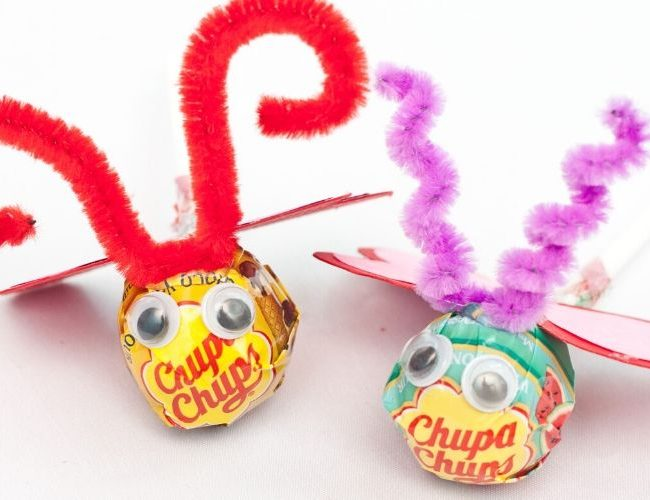 lollipop love bug craft
