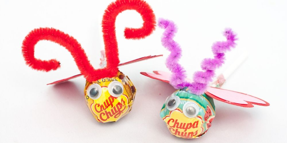 lollipop love bug craft