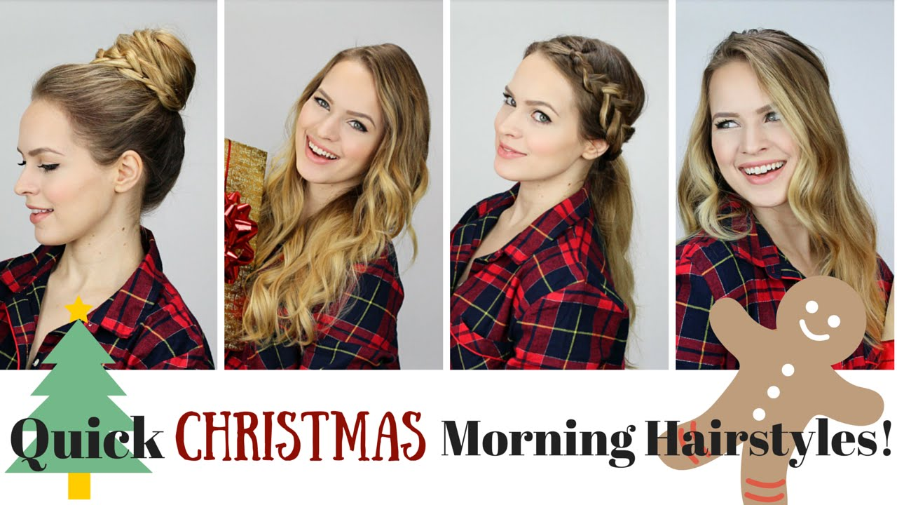 Easy Morning Christmas Hairstyles