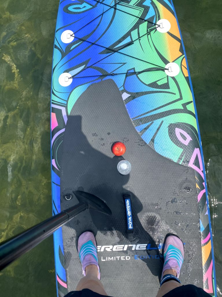 Paddle Board with snacks